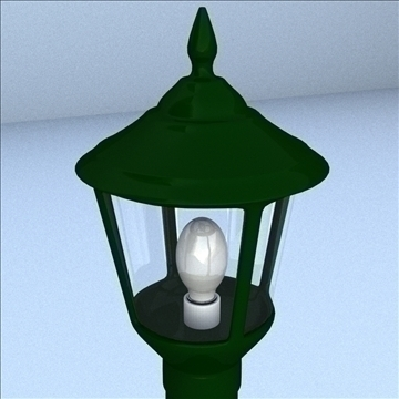 decorative post light 3d model 3ds max lwo hrc xsi obj 100509