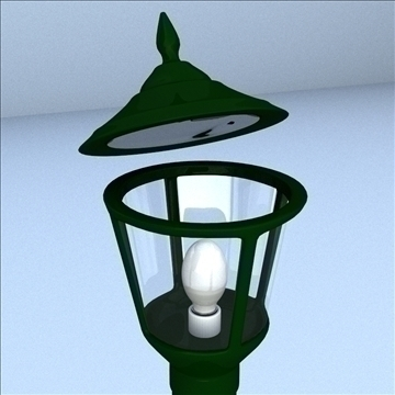 decorative post light 3d model 3ds max lwo hrc xsi obj 100510