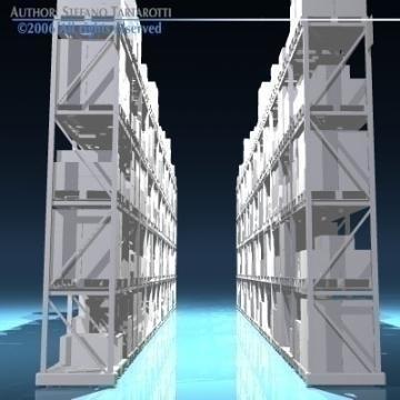 depot shelves 3d model 3ds dxf obj 78646