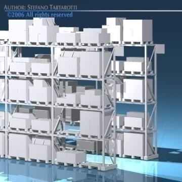 depot shelves 3d model 3ds dxf obj 78647