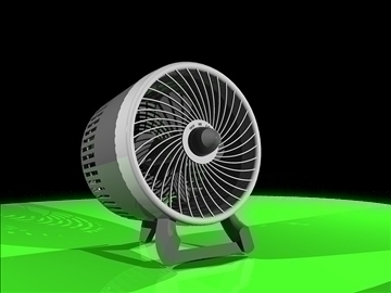 desk fan 3d model dxf 94336