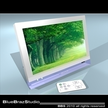 digital photo frame 3d model 3ds dxf c4d obj 102776