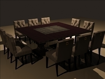 dining table 3d model max 98864