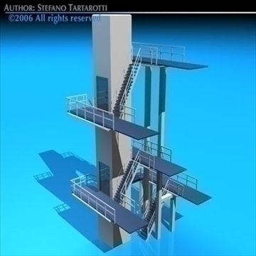 diving tower 3d model 3ds dxf c4d obj 82581