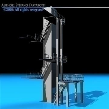 diving tower 3d model 3ds dxf c4d obj 82582