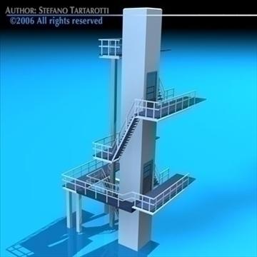 diving tower 3d model 3ds dxf c4d obj 82583