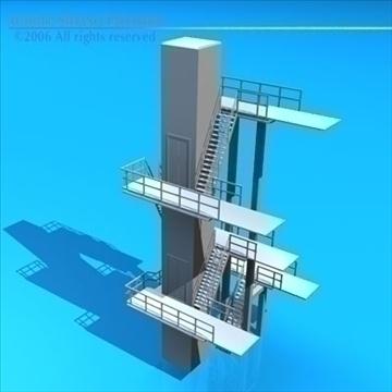 diving tower 3d model 3ds dxf c4d obj 82585