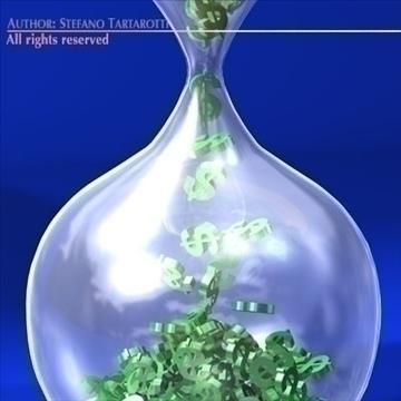 dollars glass 3d model 3ds dxf c4d obj 100830