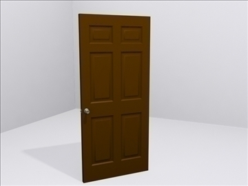 door door knob 3d model 3ds max wrl wrz obj 109046