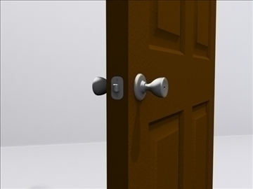 door door knob 3d model 3ds max wrl wrz obj 109047