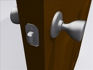door door knob 3d model 3ds max wrl wrz obj 109048