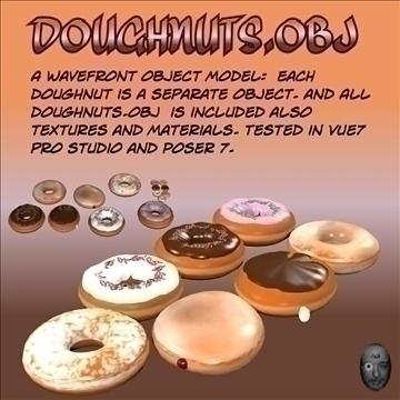 doughnuts.obj 3d model obj 104791