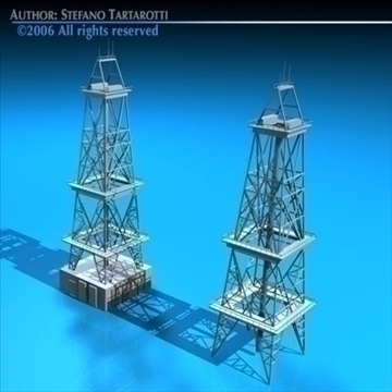 drilling tower 3d model 3ds dxf c4d obj 82279