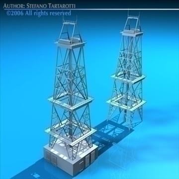 drilling tower 3d model 3ds dxf c4d obj 82280