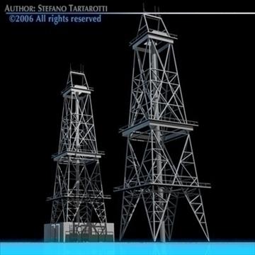 drilling tower 3d model 3ds dxf c4d obj 82281