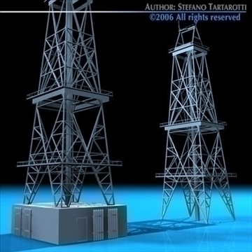 drilling tower 3d model 3ds dxf c4d obj 82282