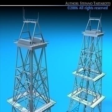 drilling tower 3d model 3ds dxf c4d obj 82283