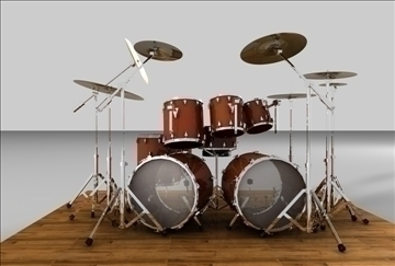 drum set 3d model 3ds c4d texture 109282