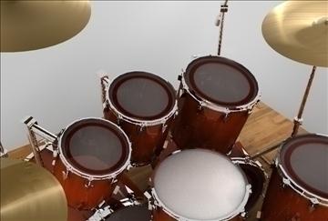 drum set 3d model 3ds c4d texture 109283