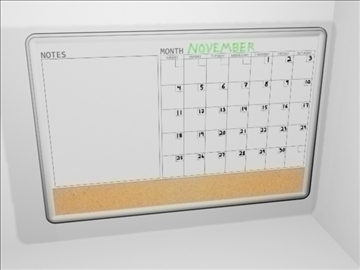 dry erase board 2 3d model 3ds max wrl wrz obj 109090