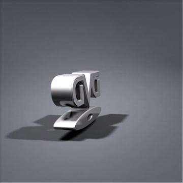 dvd logo animation 3d model max 106062