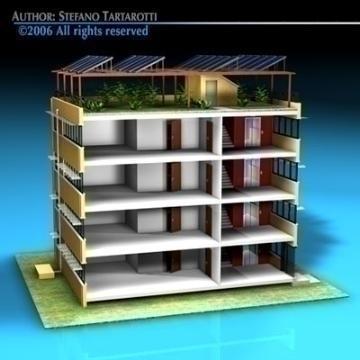 ecological building cutaway 3d model 3ds dxf c4d obj 78508