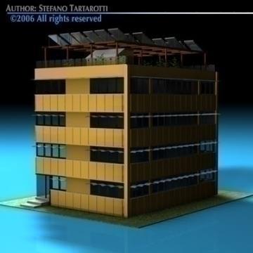 ecological building cutaway 3d model 3ds dxf c4d obj 78510