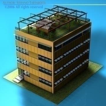ecological building cutaway 3d model 3ds dxf c4d obj 78511
