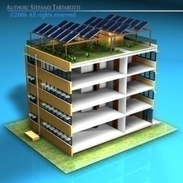 ecological building cutaway 3d model 3ds dxf c4d obj 78512
