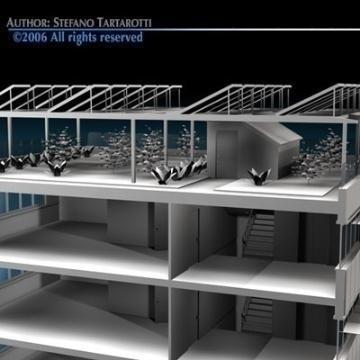 ecological building cutaway 3d model 3ds dxf c4d obj 78515