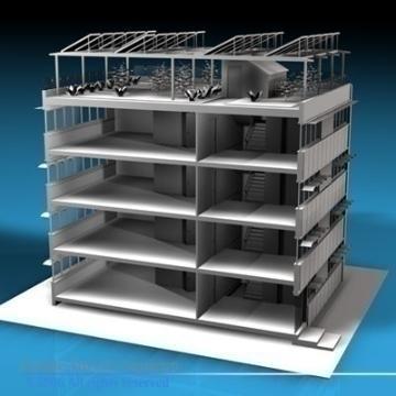 ecological building cutaway 3d model 3ds dxf c4d obj 78516