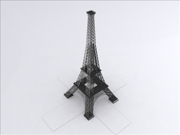 eifel tower 3d model 3ds lwo 85097