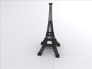 eifel tower 3d model 3ds lwo 85098