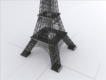 eifel tower 3d model 3ds lwo 85099