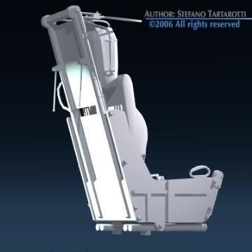 ejection seat 3d model 3ds dxf obj other 78287
