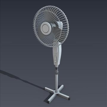 electric fan 3d model fbx blend obj 106699