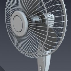 Electric fan ( 88.61KB jpg by futurex3d )