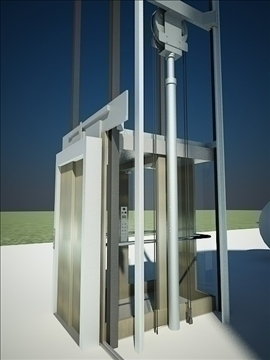 elevator lift 3d model 3ds max dxf dwg fbx x lwo 111961