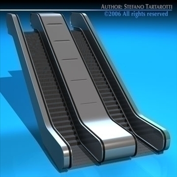 escalators 3d model 3ds fbx c4d obj 84635