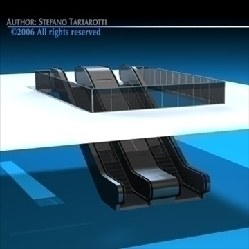 escalators 3d model 3ds fbx c4d obj 84636