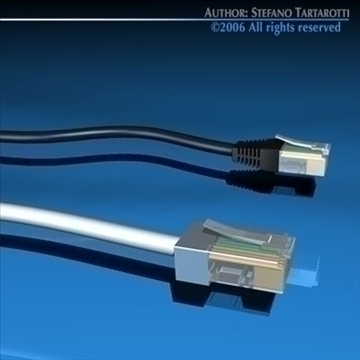 ethernet plugs 3d model 3ds dxf c4d obj 79597