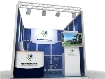 exhibition stand 3d model max 97283