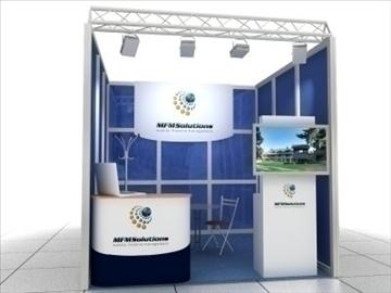 Exhibition Stand 3d Model : Exhibition stand model 3d model