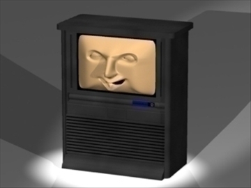face tv 3d model 3ds dxf lwo 80802