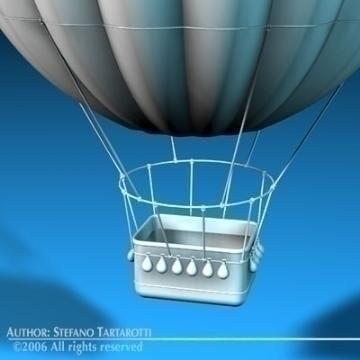 ffantasi montgolfiere 3d model 3ds dxf c4d obj 78044