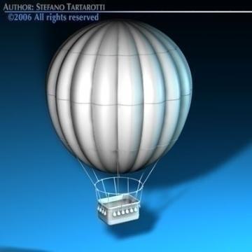 fantasy montgolfiere 3d model 3ds dxf c4d obj 78045