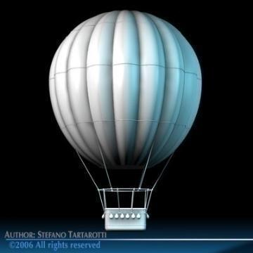 fantasy montgolfiere 3d model 3ds dxf c4d obj 78046