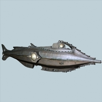 fantasy sub 3d model 3ds 85597