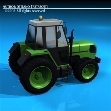 farm tractor 3d model 3ds dxf c4d obj 86639