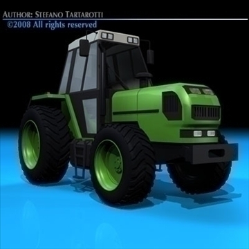 farm tractor 3d model 3ds dxf c4d obj 86640